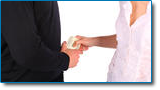 Alimony may be affected by bankruptcy. Image of man and woman exchanging cash.