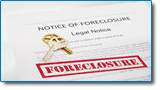 Foreclosure can be stopped immediately with bankruptcy filing. Image of house keys on notice of foreclosure documents.