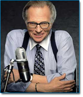 Image of talk show host Larry King