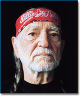 Image of country music star Willie Nelson